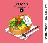 vector illustrations of bento... | Shutterstock .eps vector #1071369191