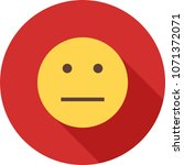 straight face icon | Shutterstock .eps vector #1071372071
