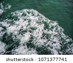 sea waves for editorial or... | Shutterstock . vector #1071377741
