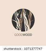vector wood logo design...   Shutterstock .eps vector #1071377747