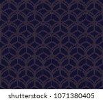 vector ornamental seamless... | Shutterstock .eps vector #1071380405