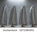 human figures under cloth. 3d... | Shutterstock . vector #1071384341