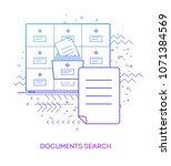 documents search. modern flat... | Shutterstock .eps vector #1071384569