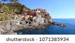 panorama of cinque terre ... | Shutterstock . vector #1071385934
