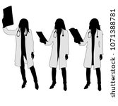 female doctor. silhouette | Shutterstock .eps vector #1071388781