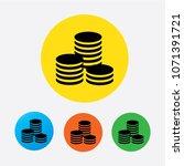 flat icon of money vector icon | Shutterstock .eps vector #1071391721