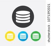 flat icon of money vector icon | Shutterstock .eps vector #1071392021