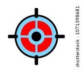target aim icon  vector target... | Shutterstock .eps vector #1071398681