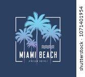 miami beach ocean drive tee... | Shutterstock .eps vector #1071401954