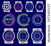 set of smart watches | Shutterstock .eps vector #1071405137