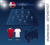 team denmark soccer jersey or... | Shutterstock .eps vector #1071407417