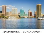 view of baltimore skyline and... | Shutterstock . vector #1071409904