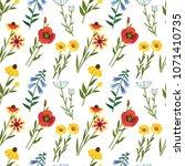 vector seamless floral pattern. ... | Shutterstock .eps vector #1071410735