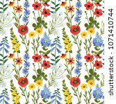 vector seamless floral pattern. ... | Shutterstock .eps vector #1071410744