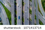top view city traffic of... | Shutterstock . vector #1071413714