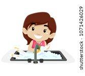 vector illustration of a little ... | Shutterstock .eps vector #1071426029