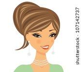 beautiful woman portrait | Shutterstock .eps vector #107142737