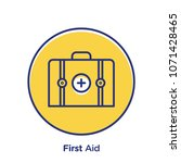 first aid related offset style... | Shutterstock .eps vector #1071428465