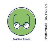 fashion related offset style... | Shutterstock .eps vector #1071428471