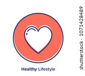 health related offset style... | Shutterstock .eps vector #1071428489
