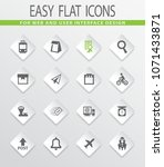 post service flat icons set for ... | Shutterstock .eps vector #1071433871