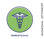 medical related offset style... | Shutterstock .eps vector #1071436139