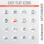 office flat icons for user... | Shutterstock .eps vector #1071436325