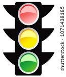 isolated traffic light design... | Shutterstock .eps vector #1071438185