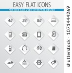 mobile connection flat icons... | Shutterstock .eps vector #1071444269