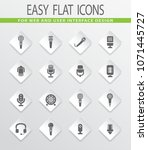 microphone flat web icons for...   Shutterstock .eps vector #1071445727