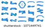ribbons banners  illustration... | Shutterstock .eps vector #1071449741