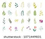 vector flat abstract green... | Shutterstock .eps vector #1071449831