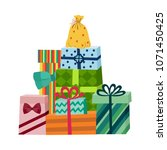 present box with bright... | Shutterstock .eps vector #1071450425