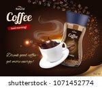 instant coffee advertisement... | Shutterstock .eps vector #1071452774
