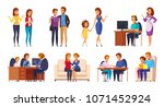children parents parenthood... | Shutterstock .eps vector #1071452924