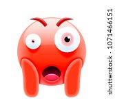 surprised face screaming in... | Shutterstock .eps vector #1071466151