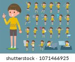 flat type yellow clothes bob... | Shutterstock .eps vector #1071466925