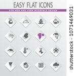 winter vector icons for user... | Shutterstock .eps vector #1071469031