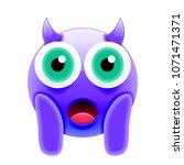face screaming in fear devil... | Shutterstock .eps vector #1071471371