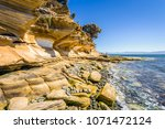 amazing coast line called... | Shutterstock . vector #1071472124