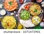 different bowls with assorted... | Shutterstock . vector #1071472901