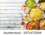 different bowls with assorted... | Shutterstock . vector #1071472904
