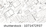 school and office supplies on... | Shutterstock .eps vector #1071472937