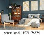 vintage  bright bedroom... | Shutterstock . vector #1071476774