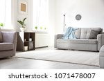 modern living room interior... | Shutterstock . vector #1071478007