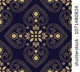 vector floral oriental seamless ... | Shutterstock .eps vector #1071480824