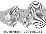 optical art wave abstract...   Shutterstock .eps vector #1071481361