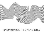 optical art wave abstract... | Shutterstock .eps vector #1071481367