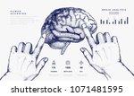 human brain in innovations... | Shutterstock .eps vector #1071481595