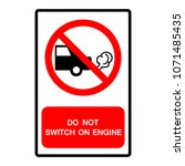 do not switch on engine symbol  ... | Shutterstock .eps vector #1071485435
